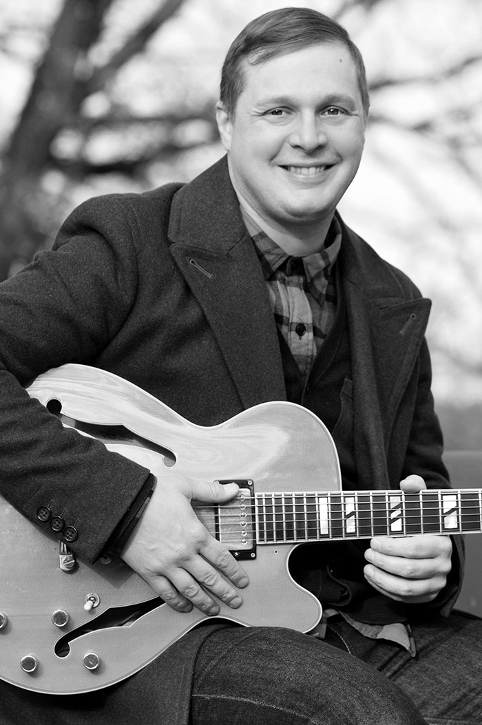 portrait of Maestro Makers guitar instructor Andrew Trim
