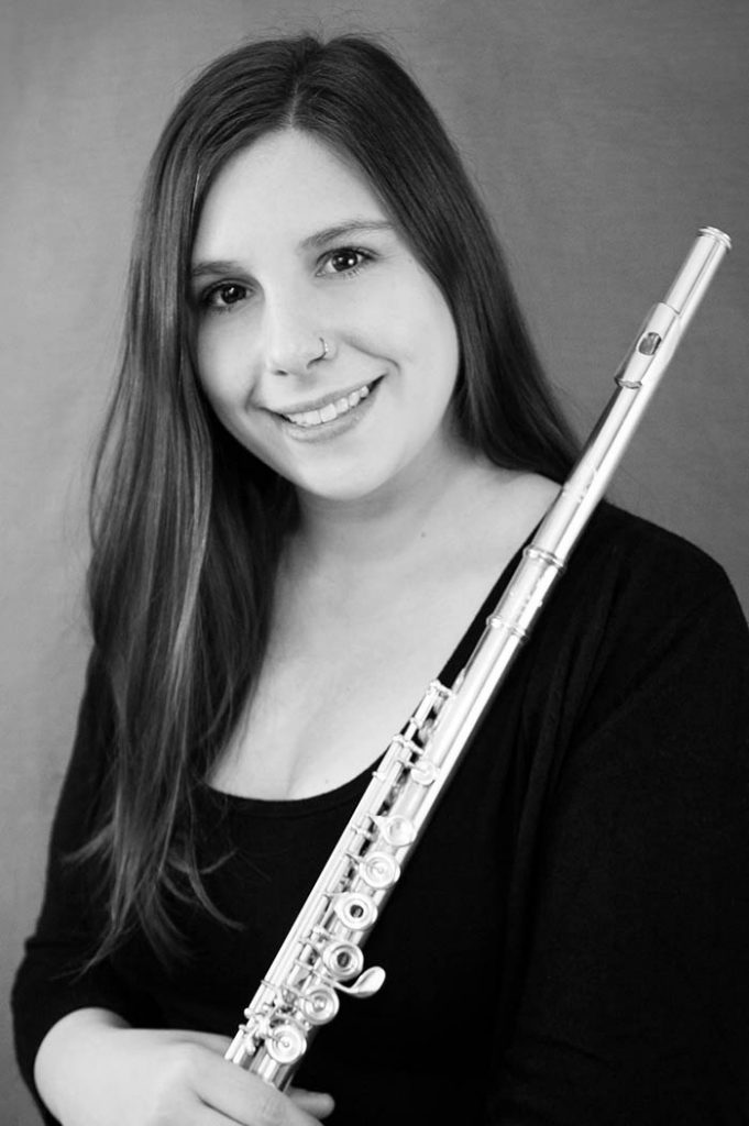 portrait of Maestro Makers flute instructor Megan O'Connell