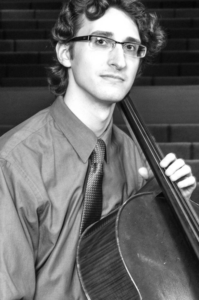 portrait of Maestro Makers cello instructor Taylor Skiff