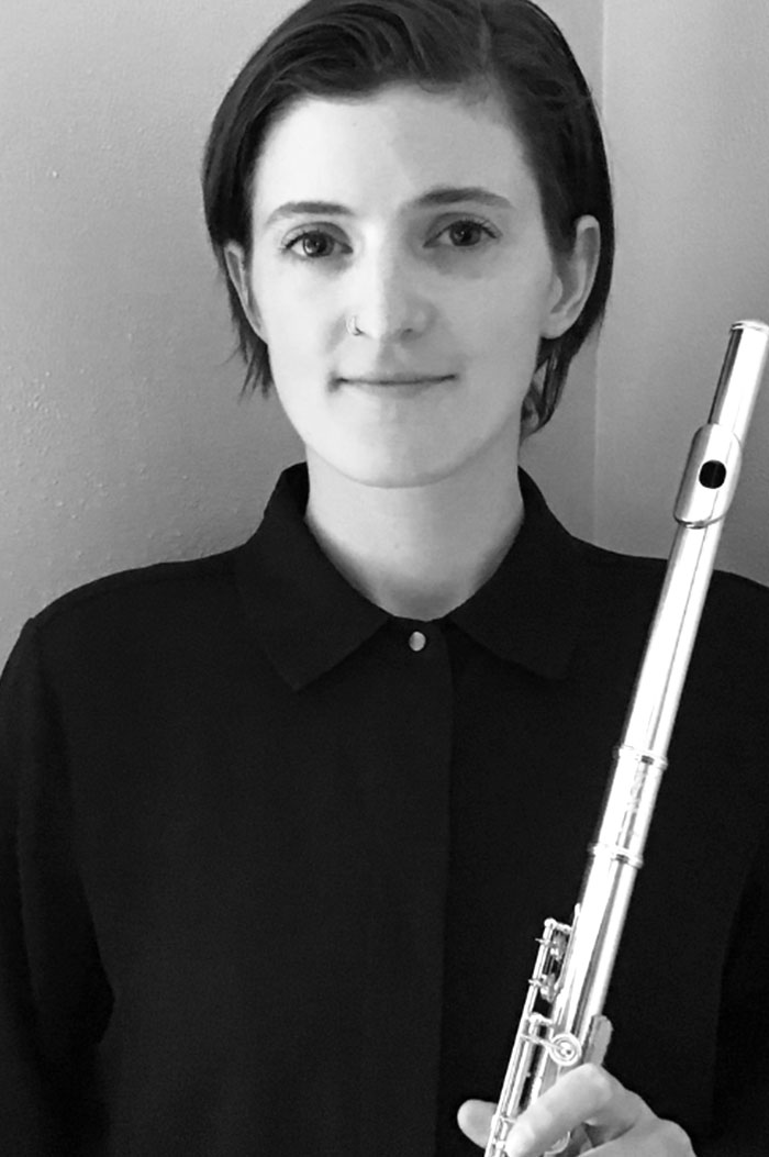 Portrait of Maestro Makers Flute instructor Olivia Dobbs